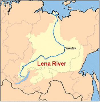 Lena River Map Russian Highway from Hell Lena River Map