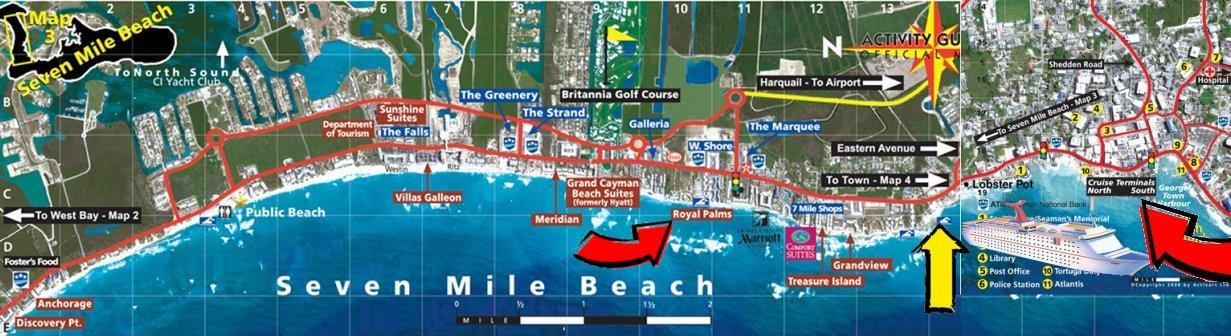 Rick Archer S Note My 2008 Walk Started At The Area Led Royal Palms See Red Arrow Terminated Yellow