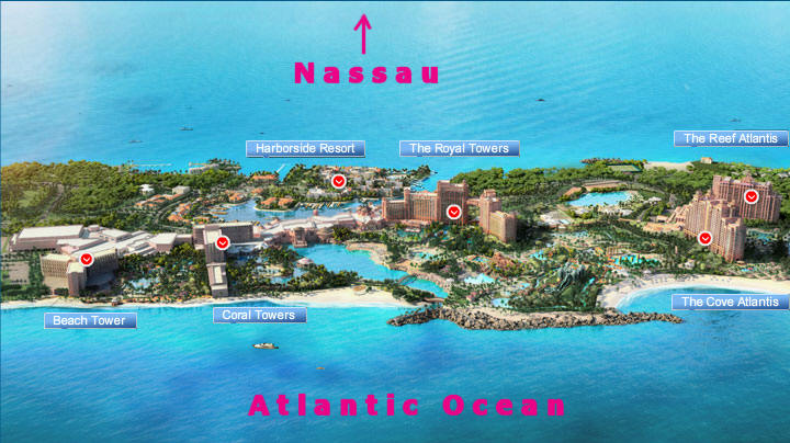 Here Is A Look At Atlantis From New Angle To Give Some Perspective Always Use The Cove Get Oriented Beach Tower